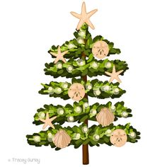 Image Gallery of Beach Christmas Clip Art.