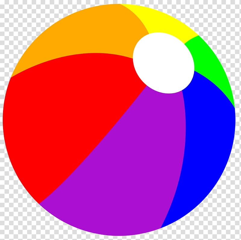 Multicolored beach ball , Beach ball , Balls transparent.