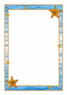 Starfish A4 page borders (SB7450).
