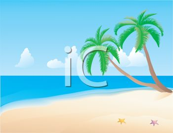 Tropical Beach Clip Art, Free Beach Clipart, Beach ball, Free Clip Art.