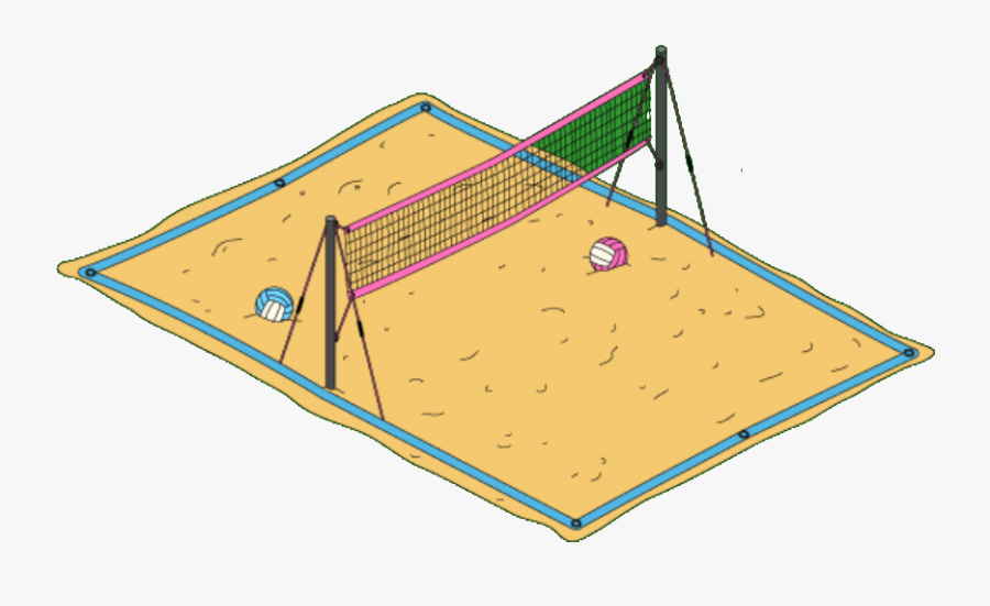 Beach Volleyball Court Drawing , Free Transparent Clipart.