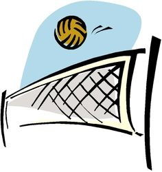 Beach Volleyball Clipart Free.