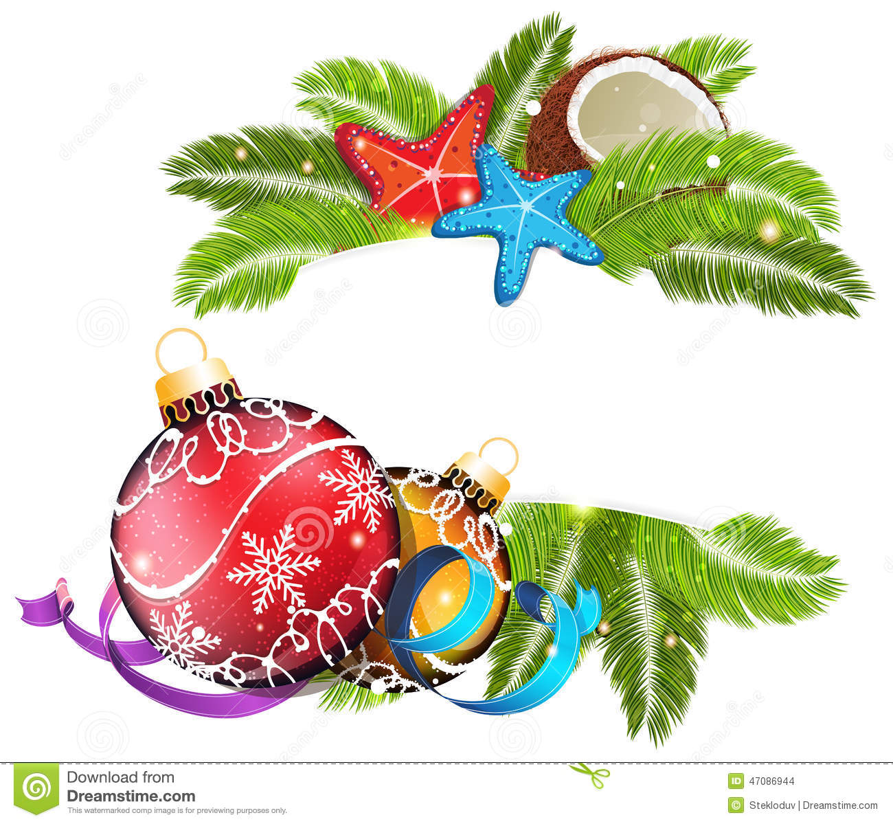 Tropical Christmas stock vector. Illustration of background.