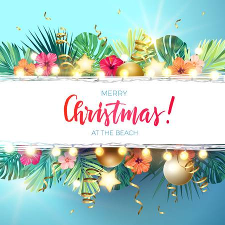 2,103 Tropical Christmas Stock Vector Illustration And Royalty Free.