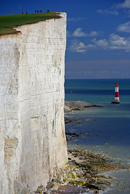 Beachy Head, East Sussex, England unfortunately a popular suicide.