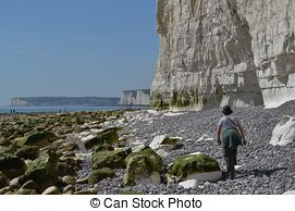 Stock Image of Beachy Head. East Sussex, England, UK.