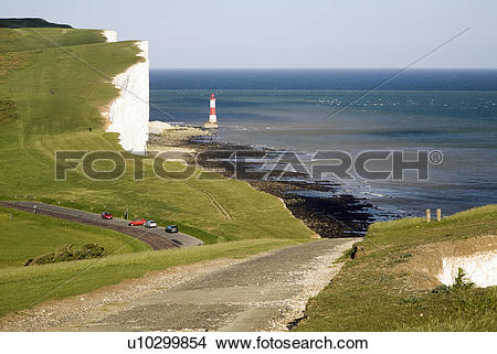 Stock Photo of England, East Sussex, Beachy Head. Looking east.