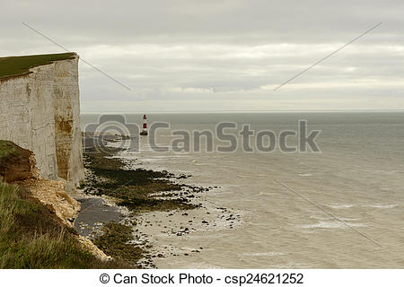 Stock Images of light house at Beachy Head, Eastbourne.