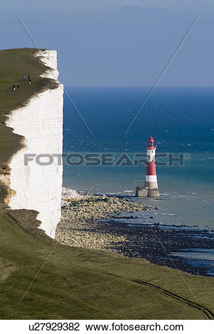 Stock Photo of England, East Sussex, Beachy Head, A view towards.