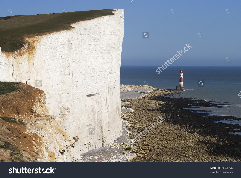 Chalk Cliffs Beachy Head Near Eastbourne Stock Photo 99861776.