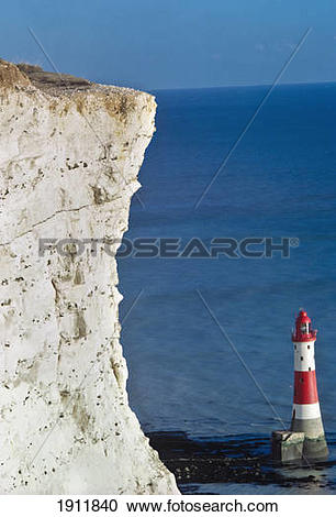 Stock Photography of Beachy Head & Lighthouse,East Sussex,Uk.