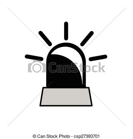 Vector Clipart of rotating beacon vector.