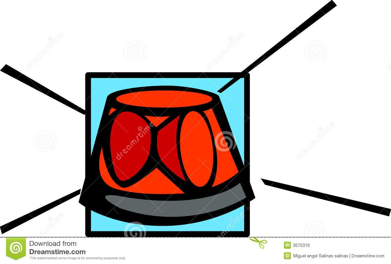 Rotating Beacon Light Vector Illustration Royalty Free Stock Image.