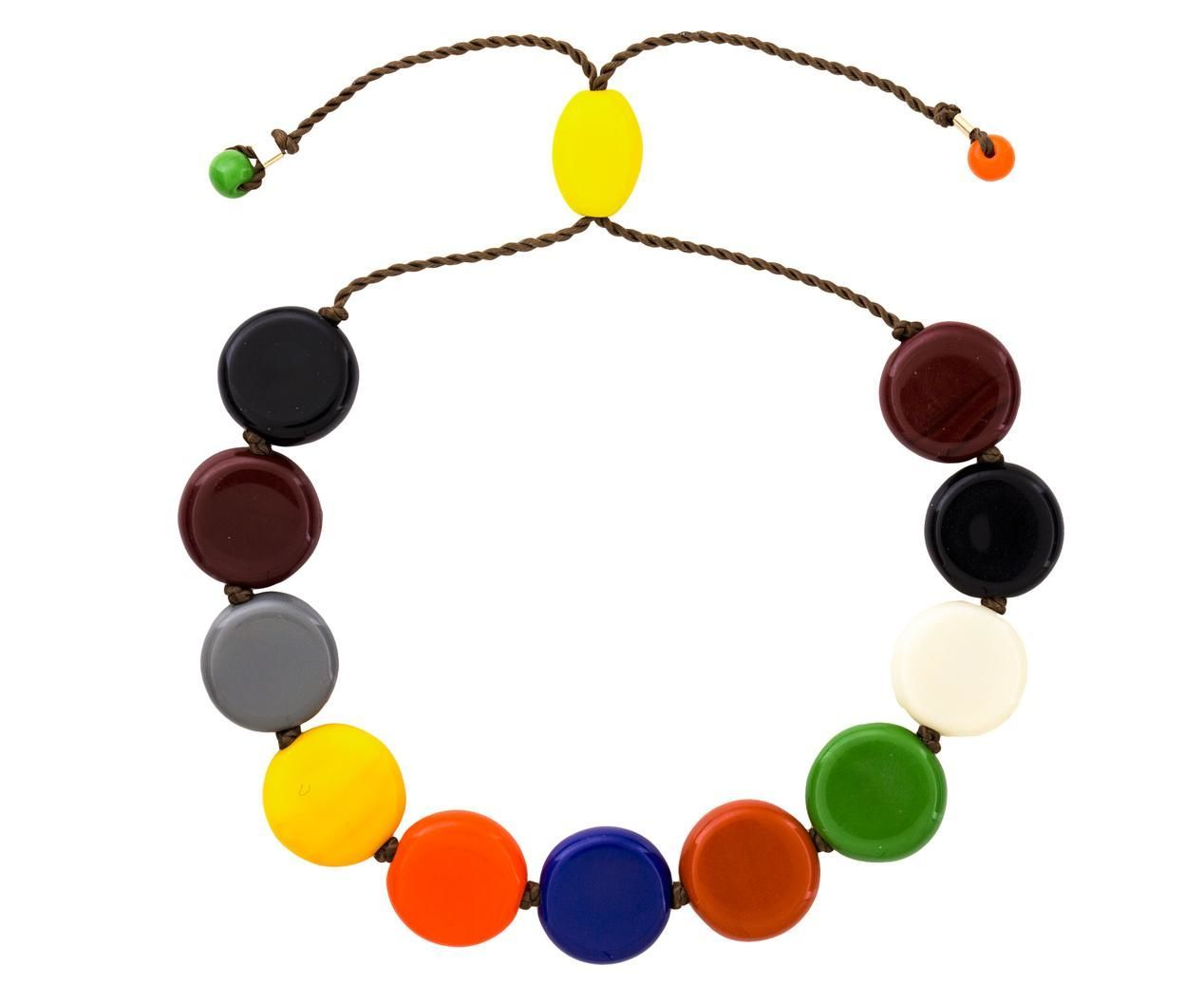 Multi Color Circle Bead Bracelet.
