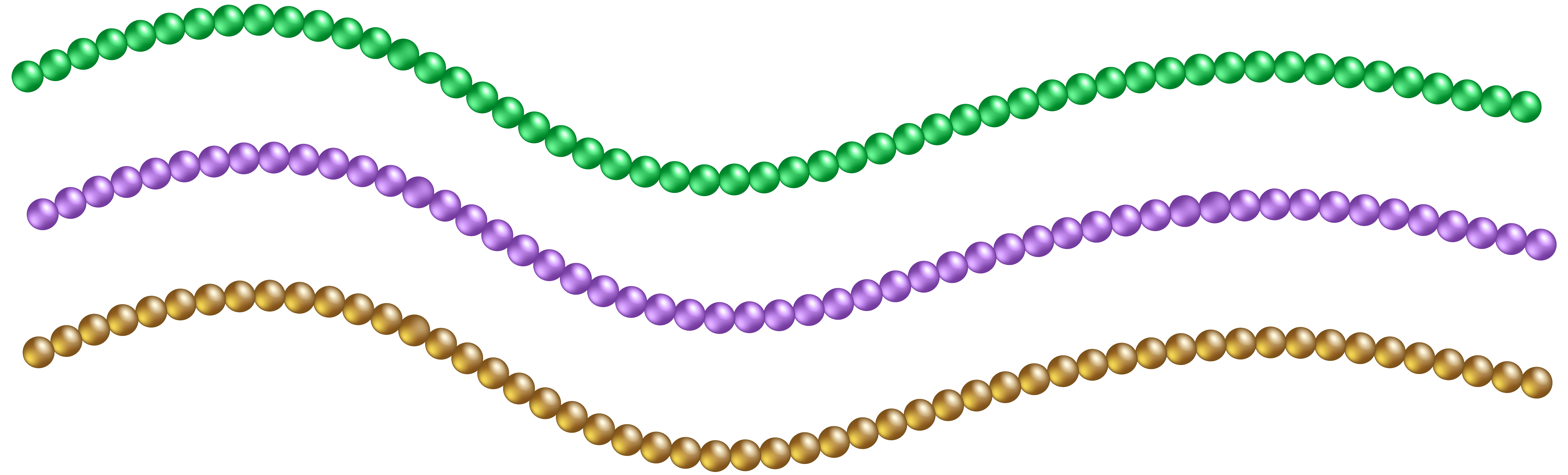 Beads Decoration PNG Clip Art Image.