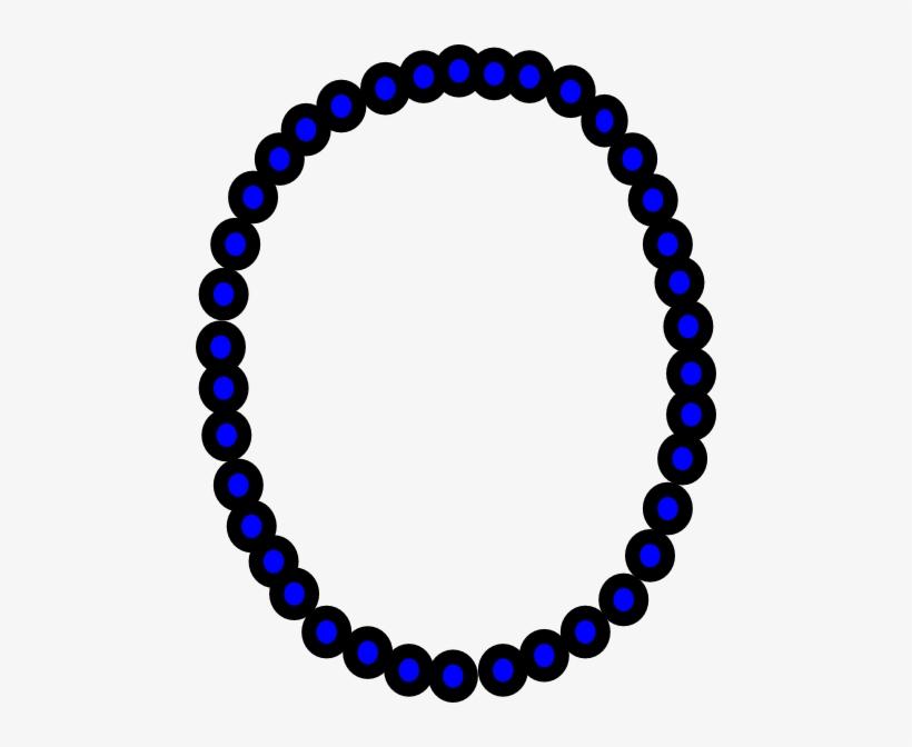 Necklace Clipart Blue.
