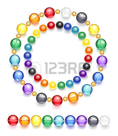 Glass beaded clipart.