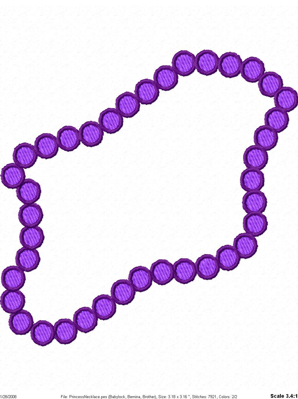Clip Art Bead Necklace Clipart.