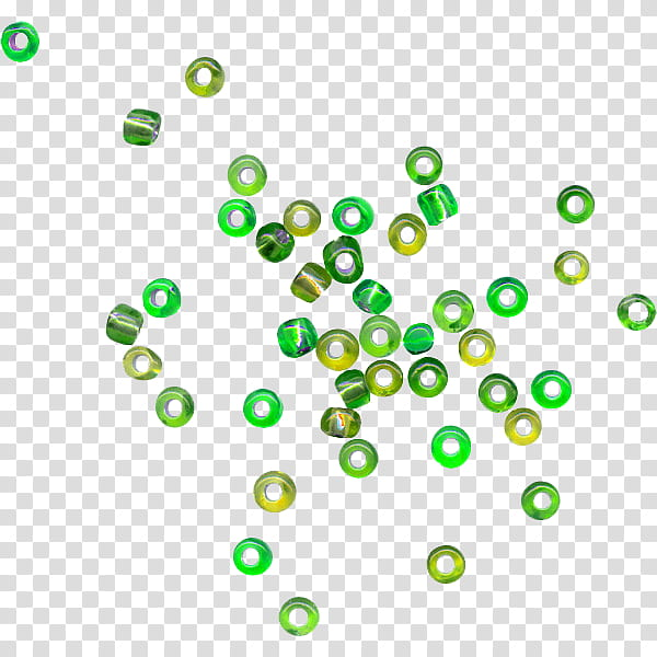 Green aesthetic, green bead lot transparent background PNG.