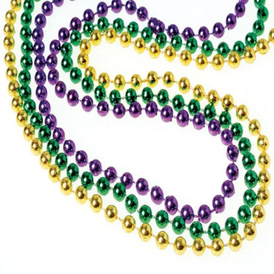 Mardi Gras Beads Clip Art free image.