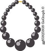 Bead Necklace Clip Art.