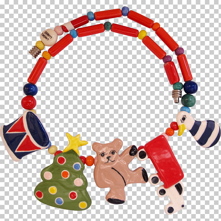Christmas ornament Earring Necklace , beads PNG clipart.