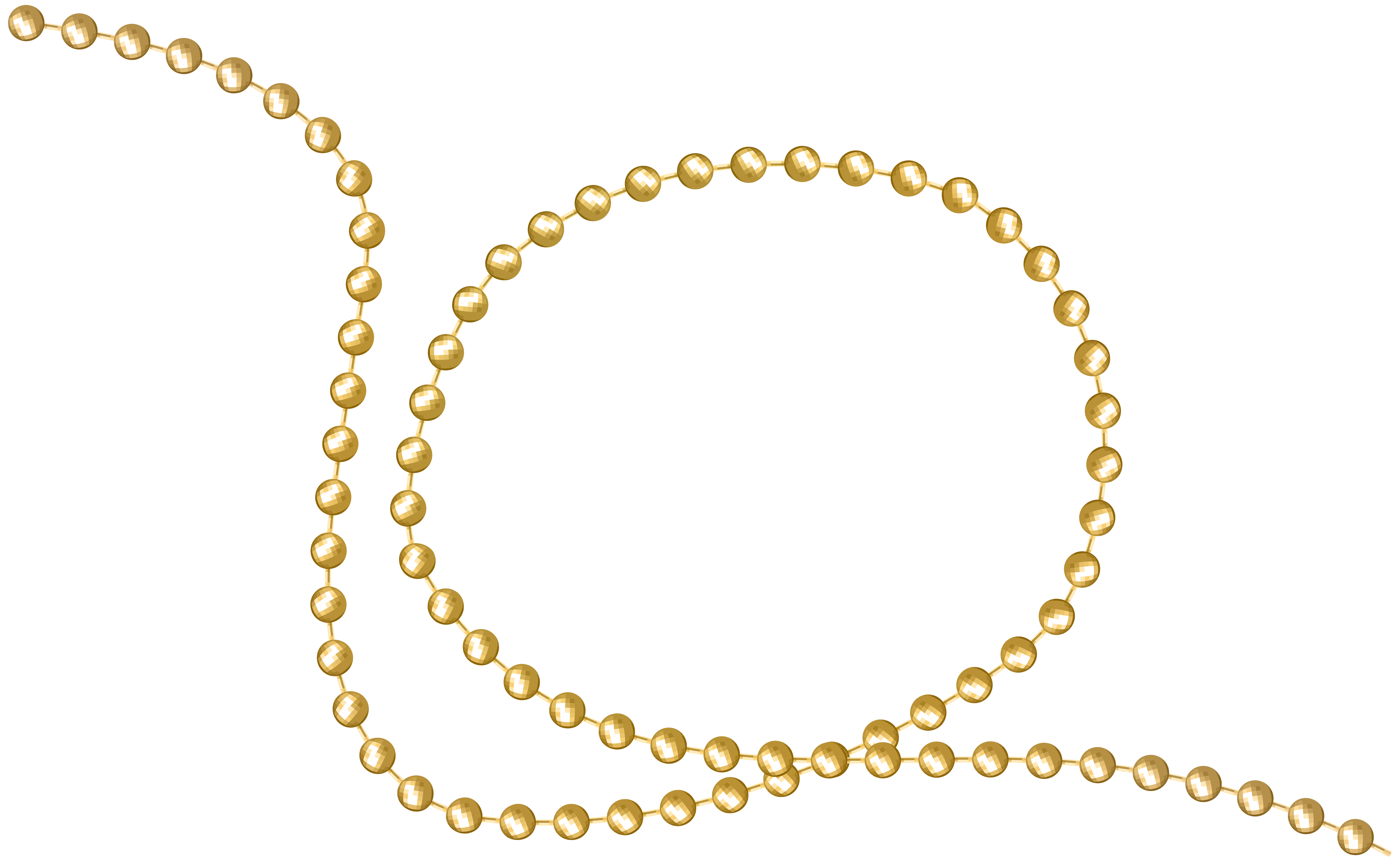 Gold Beads Decor PNG Clip Art Image.