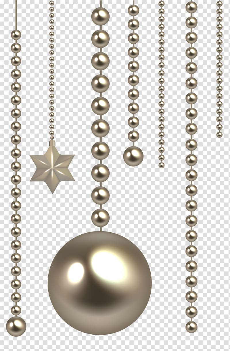 Beaded silver chimes, Bead Scalable Graphics Icon, Christmas Beads.