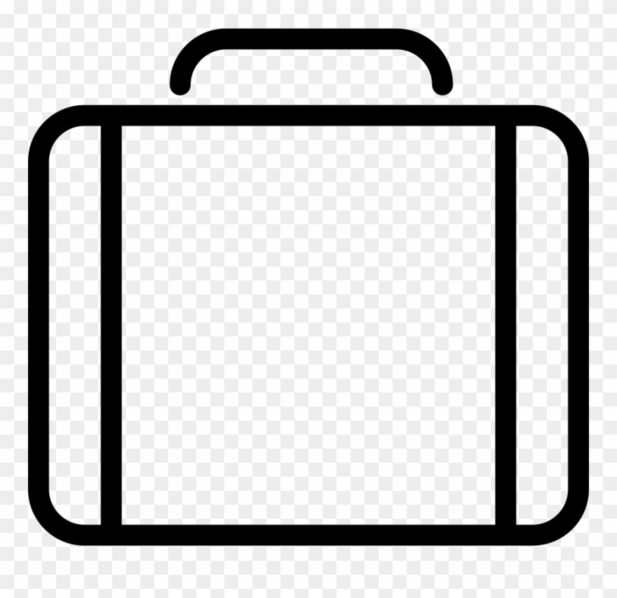 Outline Image Of Briefcase Png.