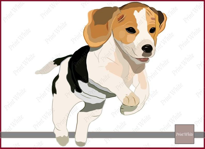 Beagle Clip Art Sublimation Design Beagle Puppy Clip Art Dog Clipart Beagle  Png Printable Beagle Image Transfer for Iron On Digital Download.