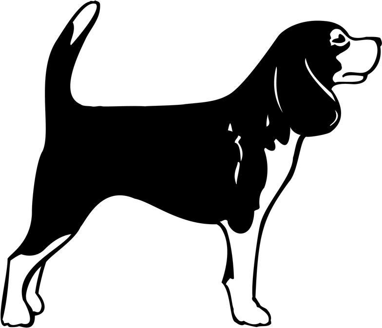 Clip Art Black And White Beagle Clipart.