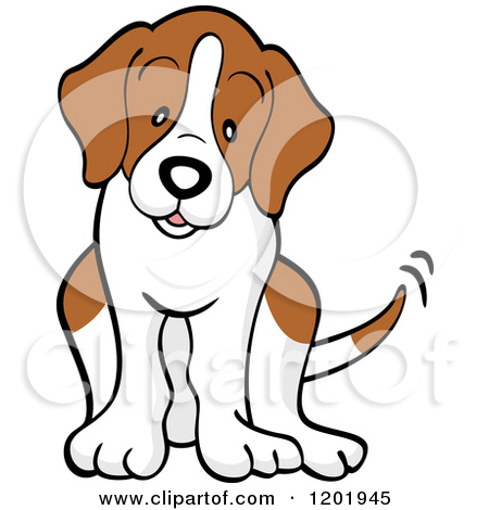 Cartoon beagle dog clipart.