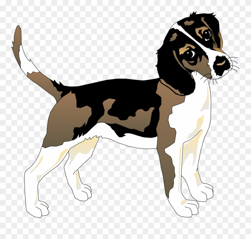 Clip Art Black And White Beagle Clipart.