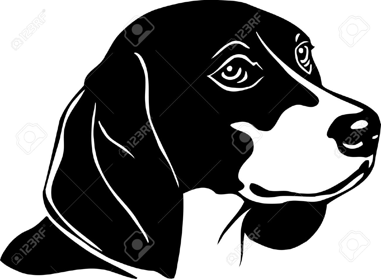Free Beagle Clipart Black And White, Download Free Clip Art.