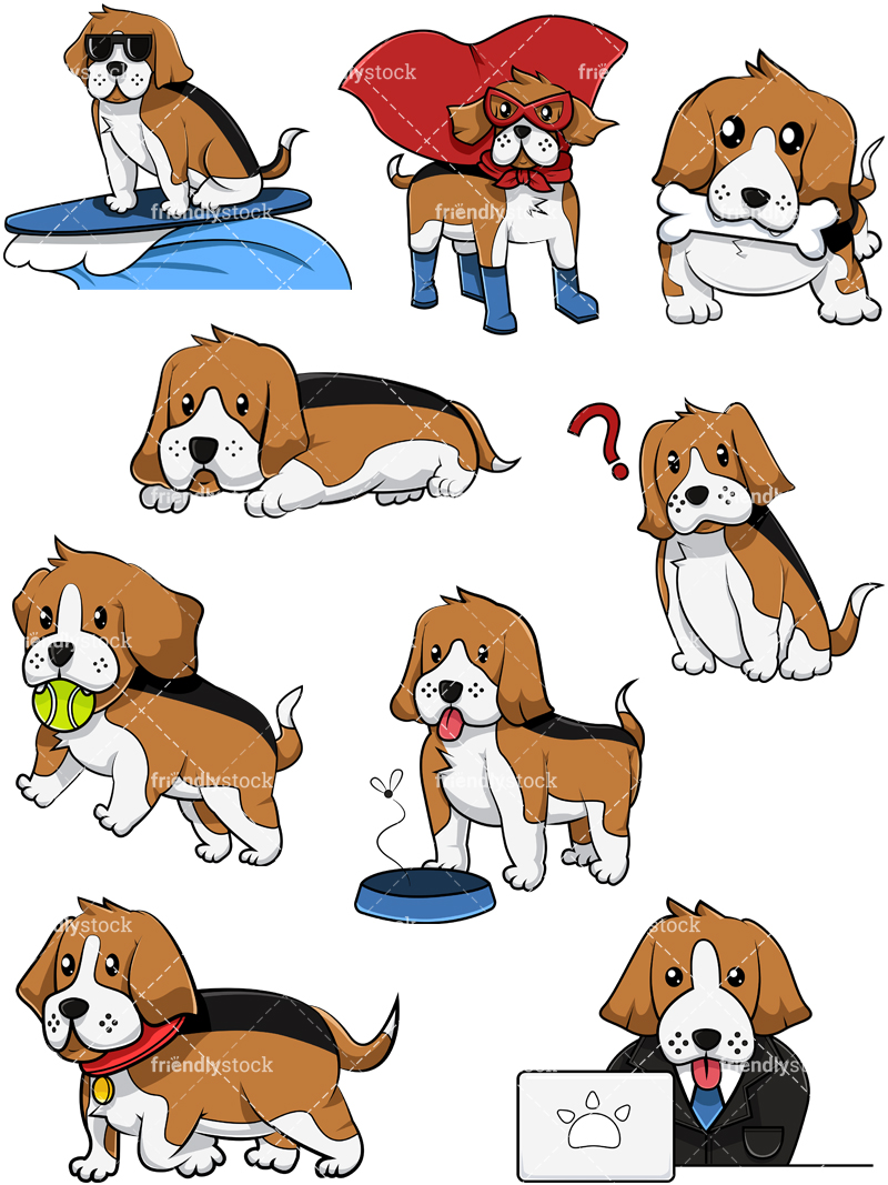 Beagle Dog Collection #2.