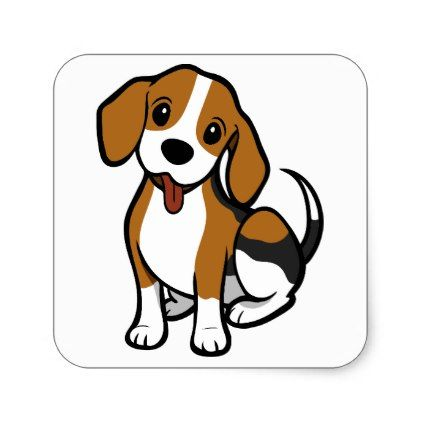 Beagle Puppy Dog Cartoon.