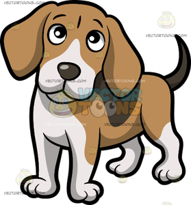 Beagle Puppy Clipart.