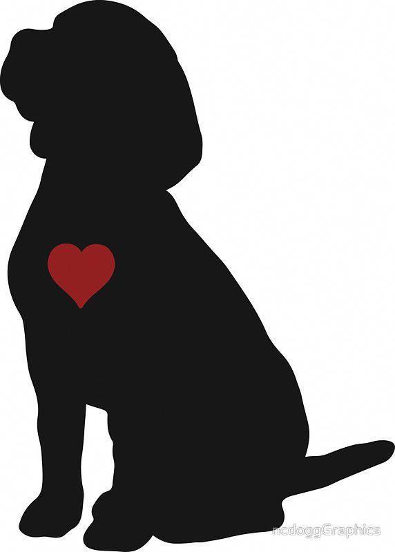 Beagle Silhouette» de ncdoggGraphics #beagles.