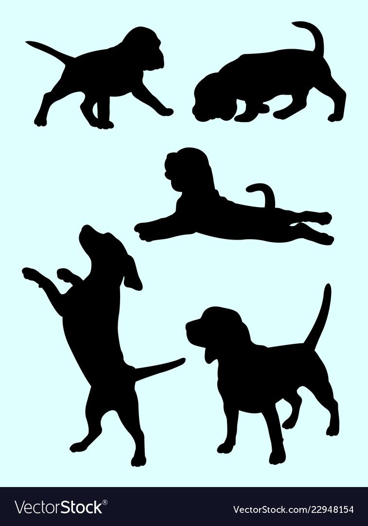 Beagle dog silhouette 02.