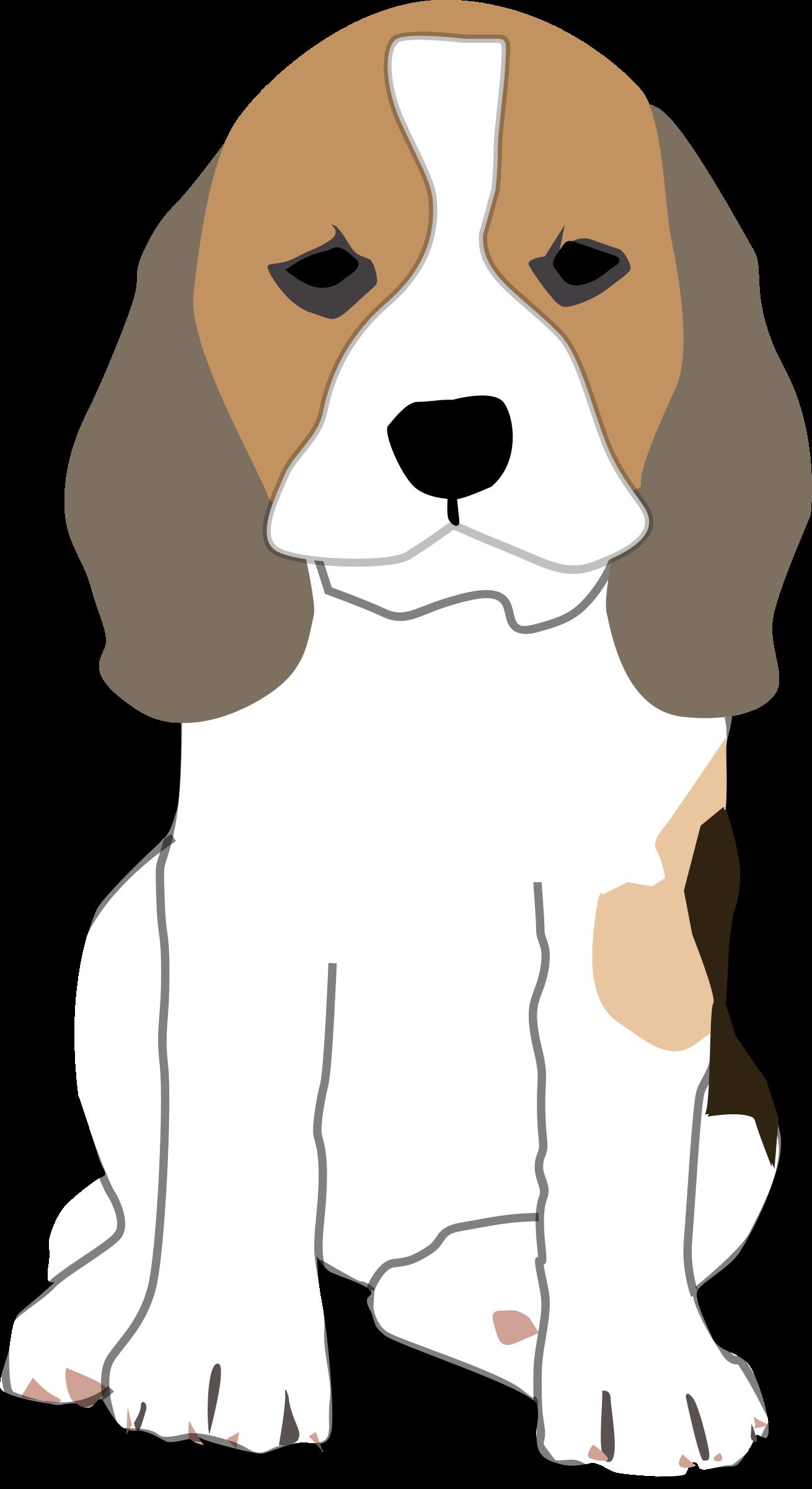 Beagle puppy clip art.