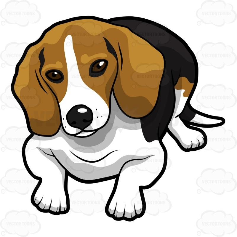 Animated beagle clipart.