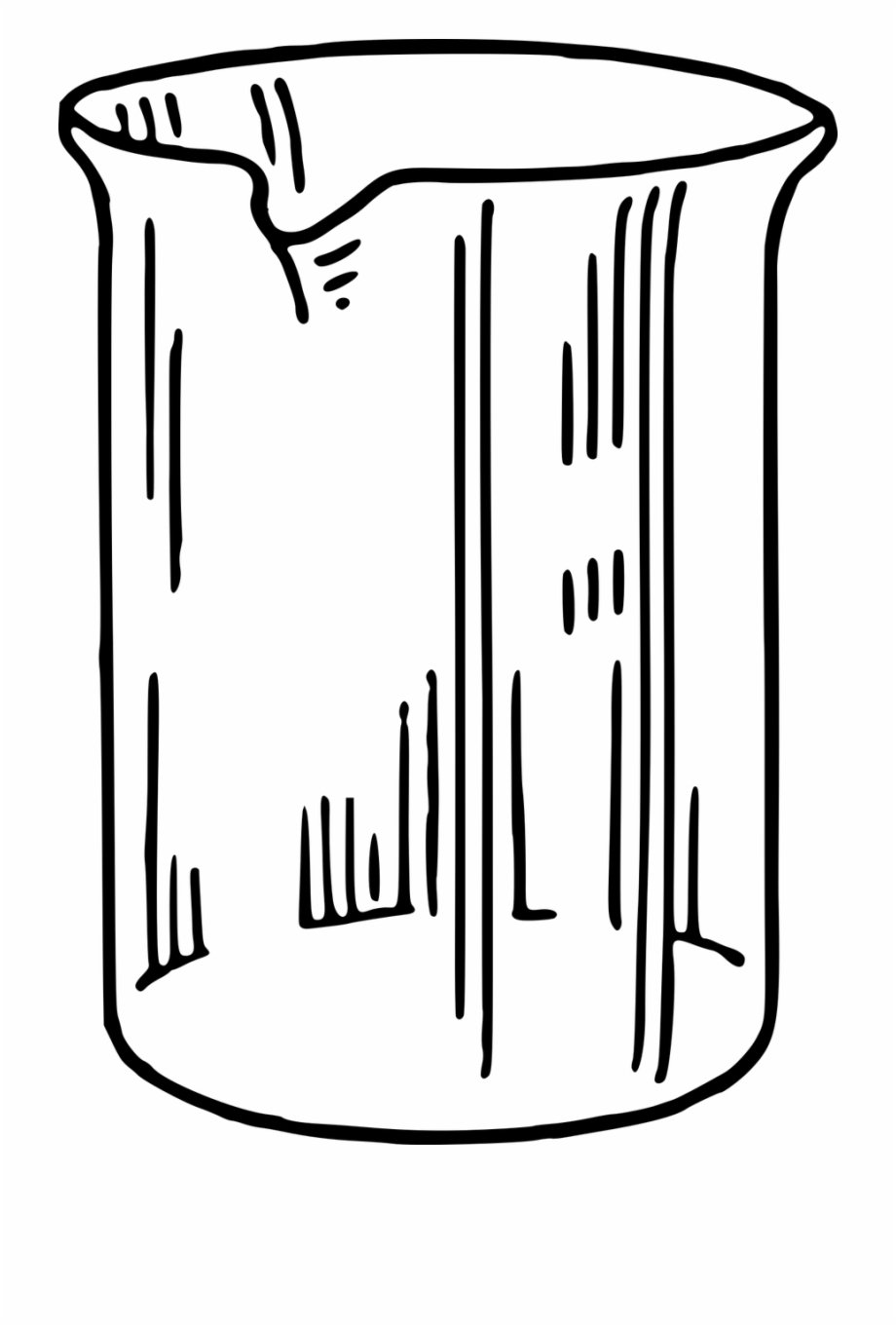 Beaker Chemistry Container Png Image.