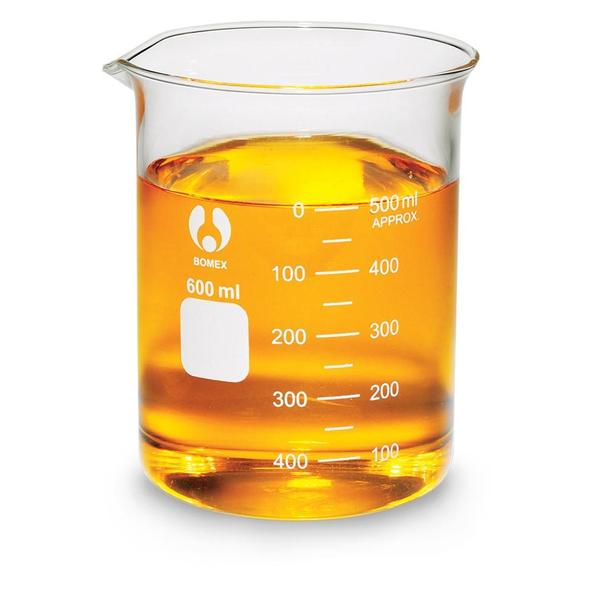 Borosilicate Bomex Glass Beaker : 600ml.