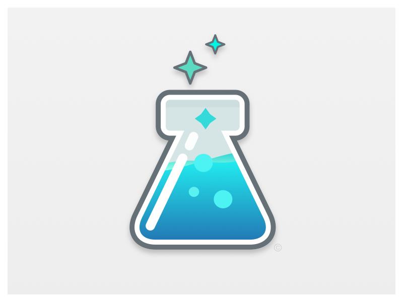 Lab Beaker Logo by Jared Trotter on Dribbble.