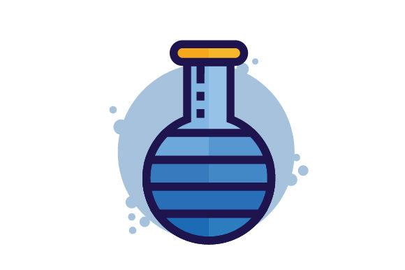 Beaker Health Filled Line Icon Logo.