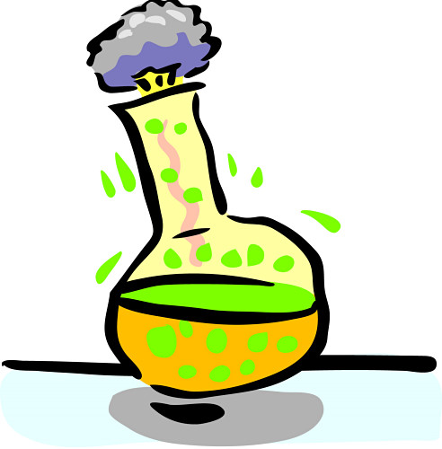 Science beaker clip art.