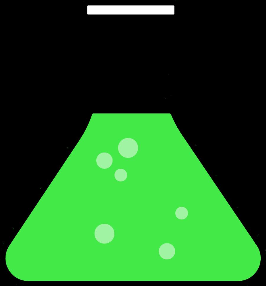 Science beaker clip art.