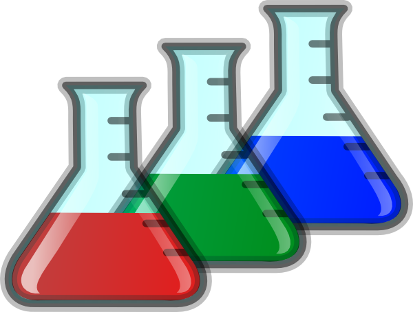 Colored Beakers PNG, SVG Clip art for Web.
