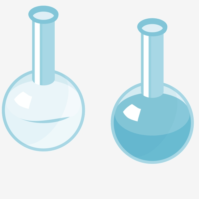 Two Cartoon Beakers, Beaker, Quantity, Two PNG Transparent Clipart.