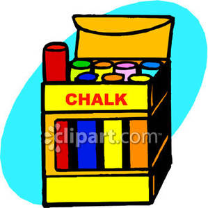 A Box of Colorful Chalk Royalty Free Clipart Picture.